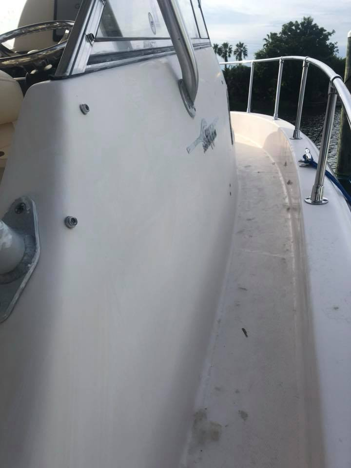 Gelcoat Restoration on 16 Year Old Grady Boat